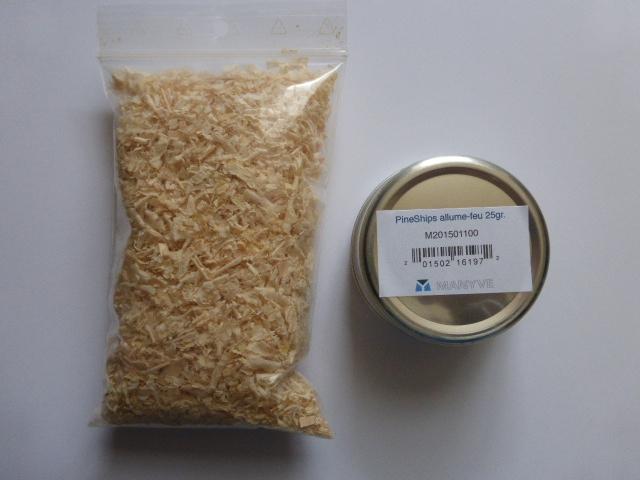 Allume-feu PineChips dust 25 gr boite alu a vis + recharge 20 grammes Ref. M201501100-1