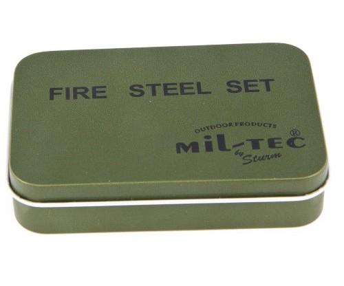 Allume-feu Fire-Steel Mill-Tec Set  - 5.45€