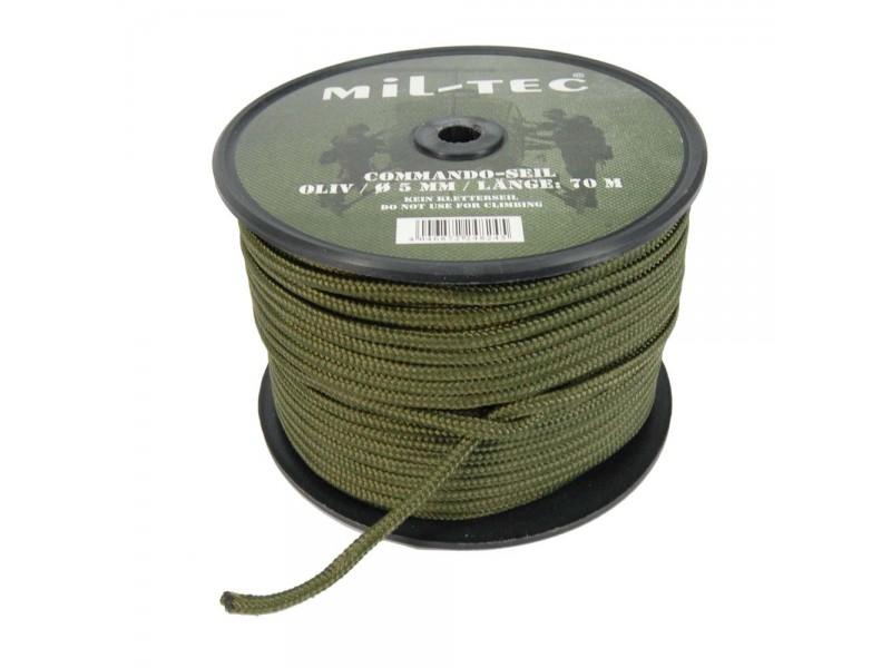Bobine de Paracorde vert olive de 70 m en 5 mm