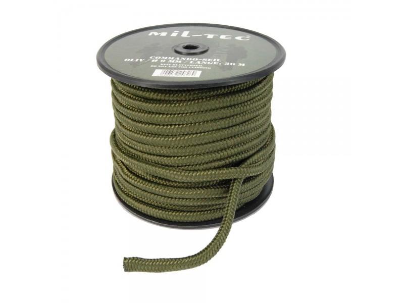 Bobine de paracorde vert olive de 30 m en 9 mm