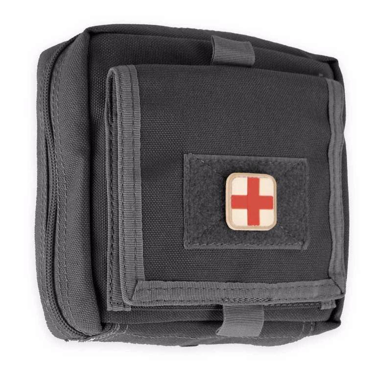 Kit medical 1er urgence molle noir équipé - 96.00€
