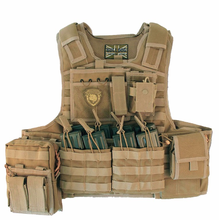 Gilet Porte-Plaques Modulaire Bulldog Tactical Coyote