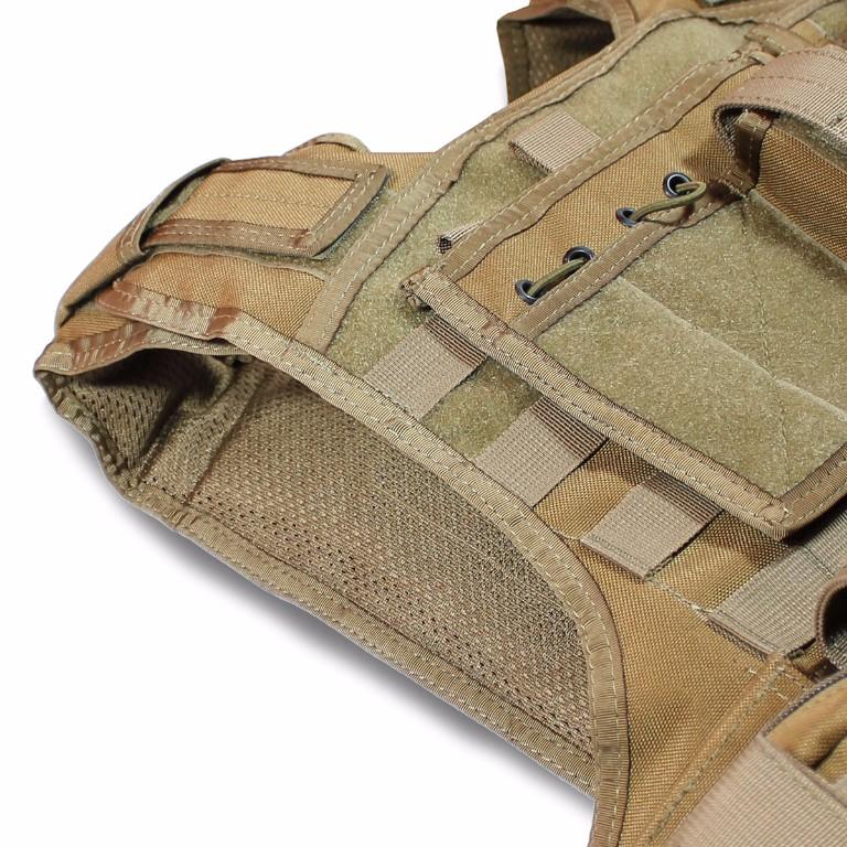 Gilet Porte-Plaques Modulaire Bulldog Tactical Coyote