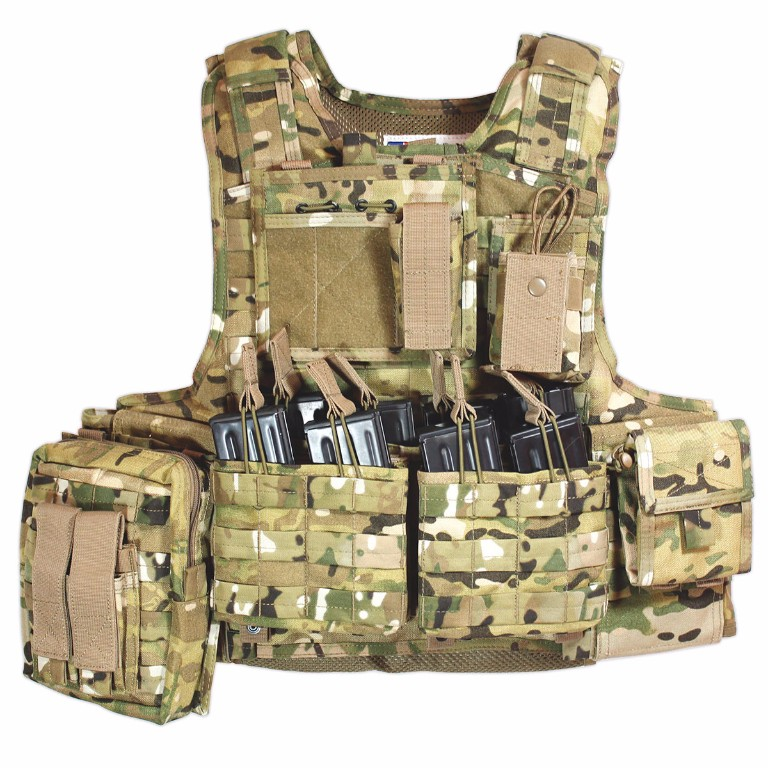 Gilet Porte-Plaques Modulaire Bulldog Tactical Camouflage