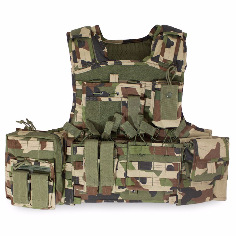 Gilet Porte-Plaques Modulaire Bulldog Tactical Camouflage CE
