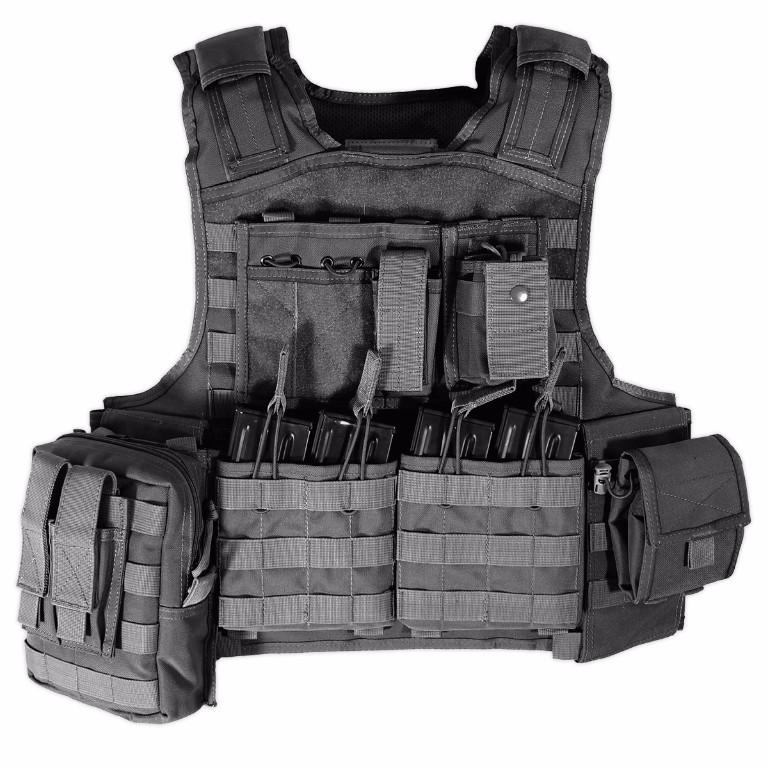 Gilet porte-plaques modulaire Bulldog Tactical noir - 210.00€