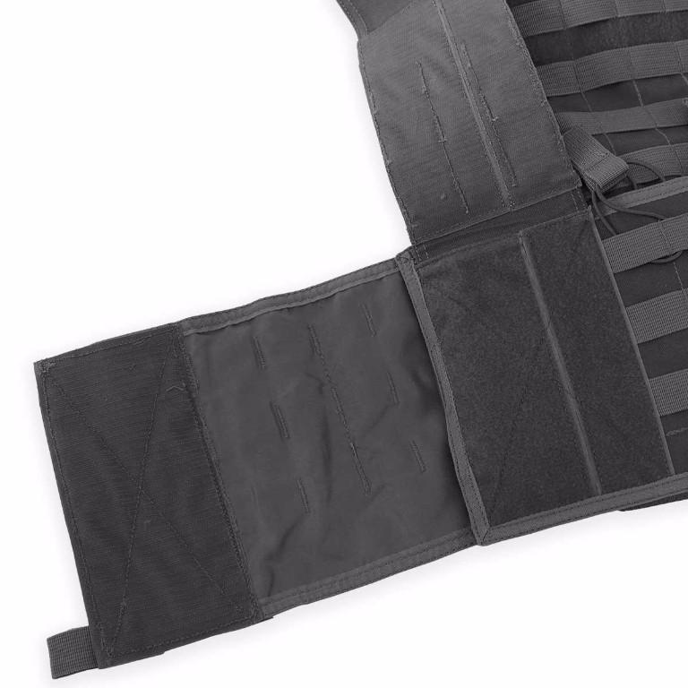 Gilet porte-plaques modulaire Bulldog Tactical noir