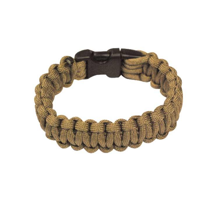 Bracelet paracorde Bulldog Tactical Beige taille L
