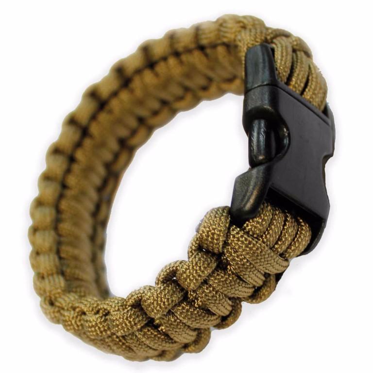Bracelet paracorde Bulldog Tactical Beige taille M
