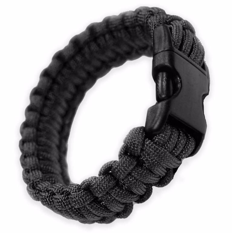 Bracelet paracorde Bulldog Tactical noir taille M