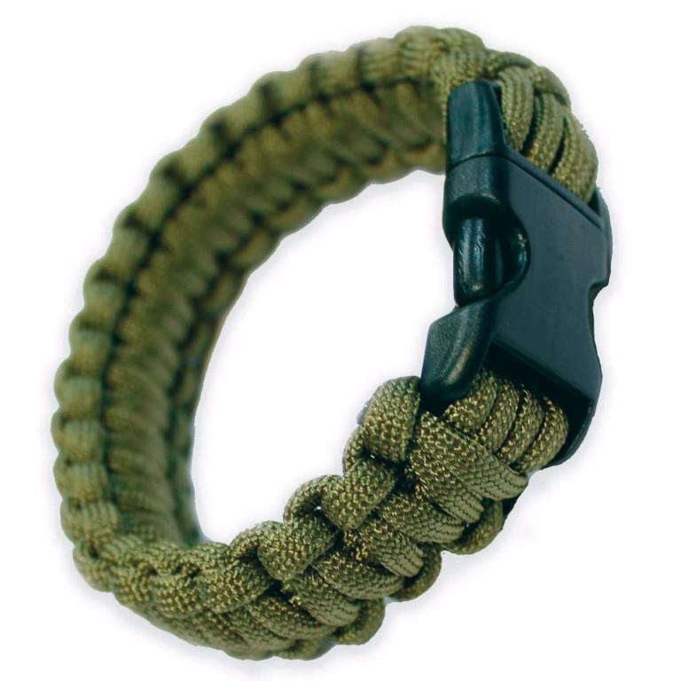 Bracelet paracorde Bulldog Tactical vert taille L