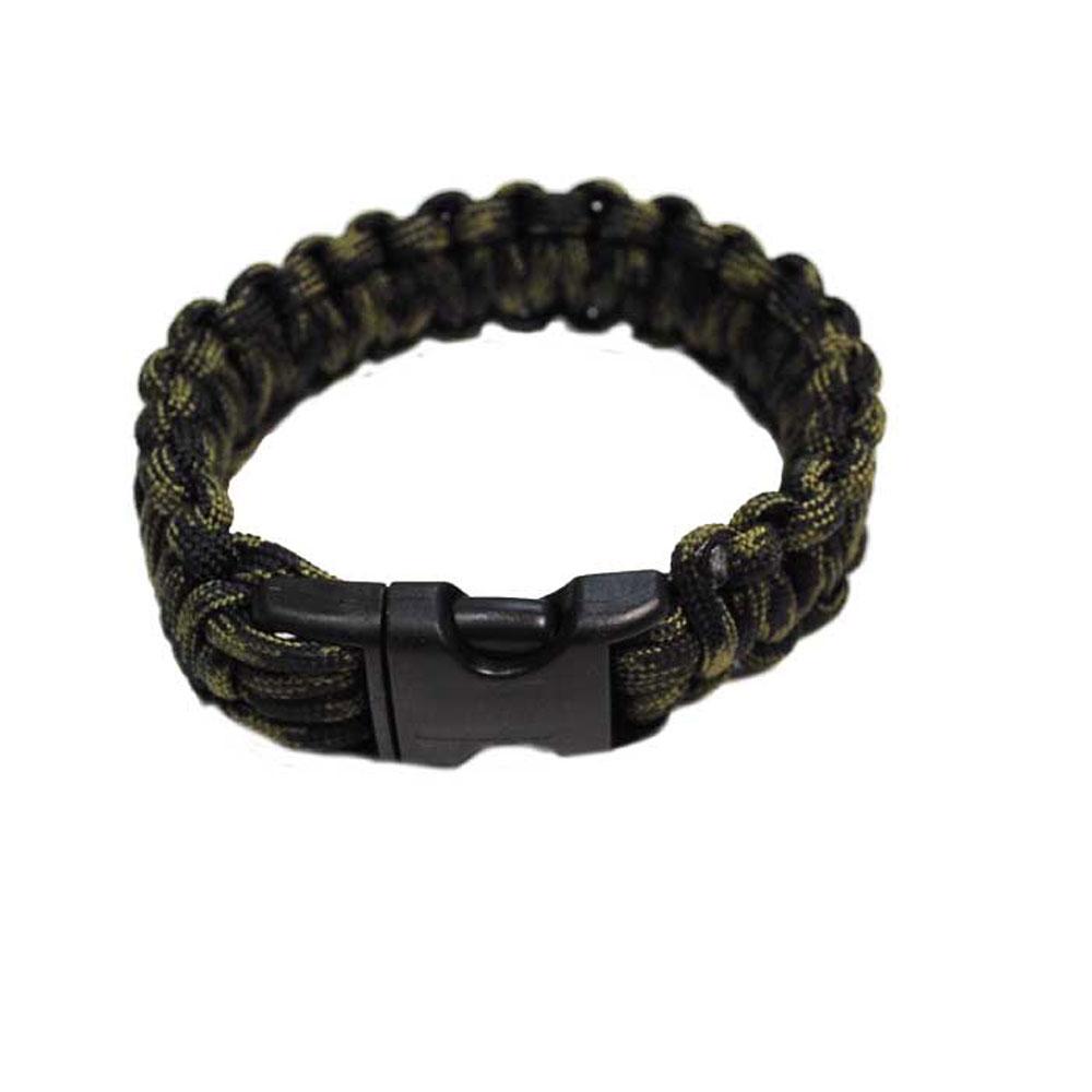 Bracelet paracorde Bulldog Tactical Vert et noir taille L