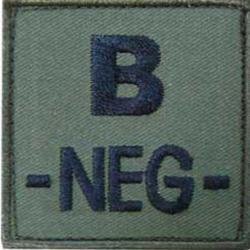 Patch groupe sanguin tissus brodé vert B -