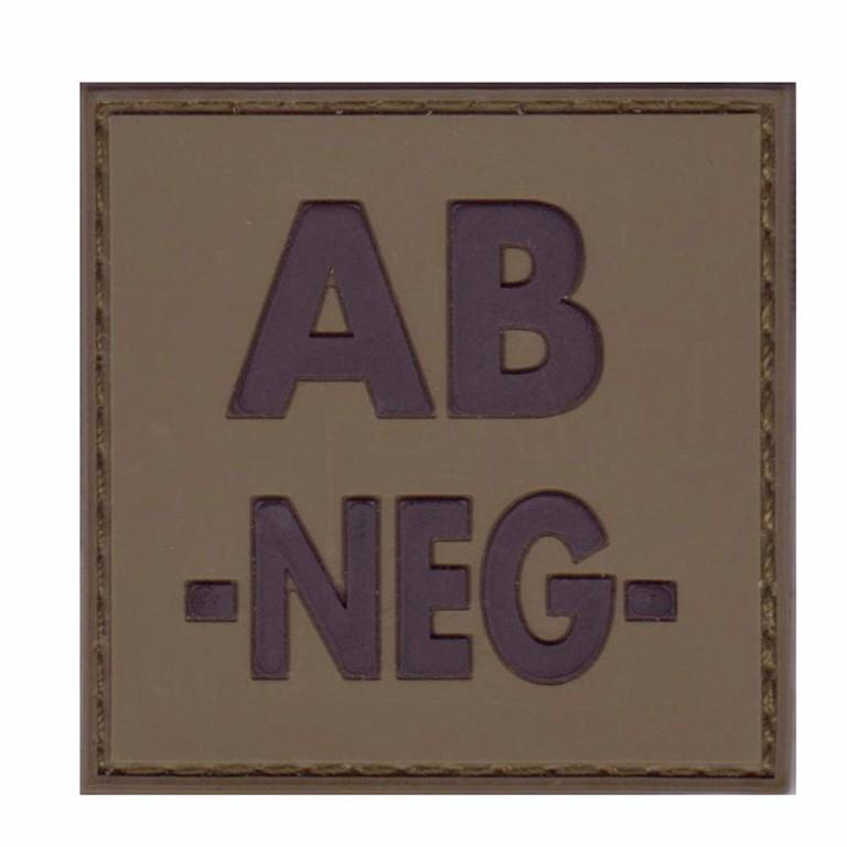 Patch groupe sanguin gomme 3D vert AB -