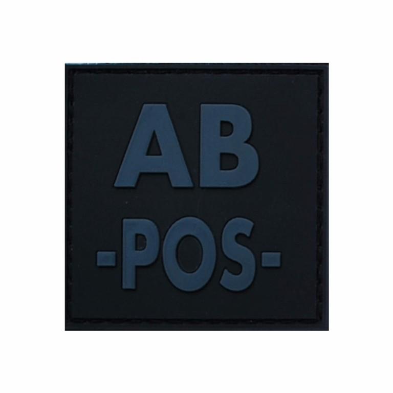 Patch groupe sanguin gomme 3D noir AB + - 4.00€