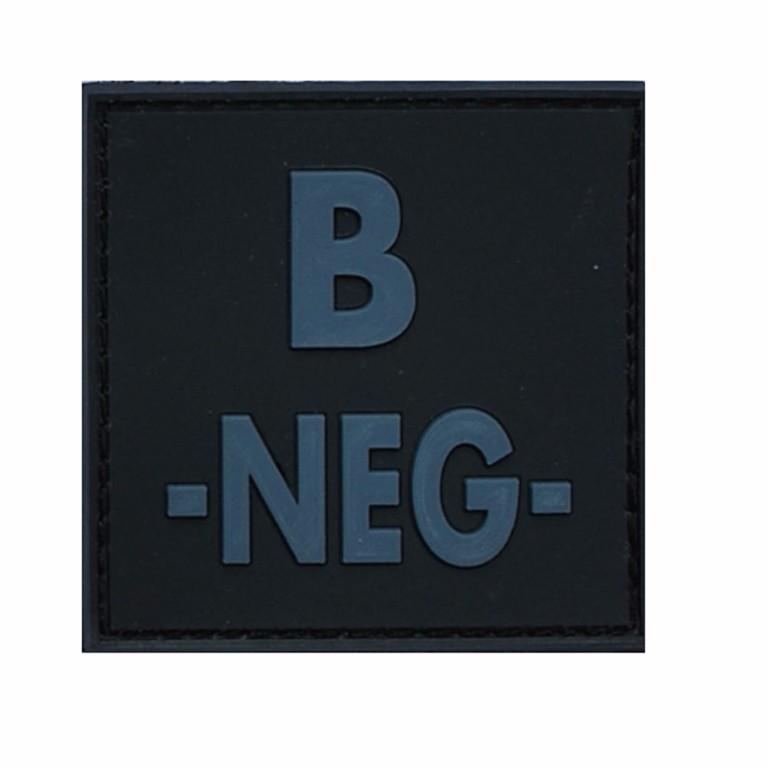 Patch groupe sanguin gomme 3D noir B -