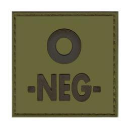 Patch groupe sanguin gomme 3D vert O -