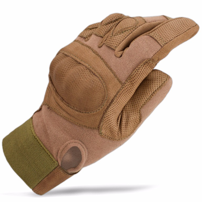 Gants Rhyno kevlar Bulldog Tactical Coyotte L