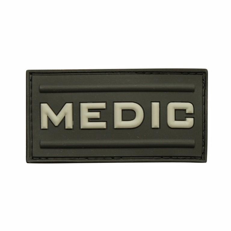 Patch 3D gomme souple Medic noir - 10.00€