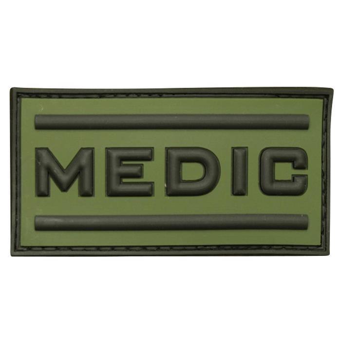 Patch 3D gomme souple Medic vert OD - 10.00€